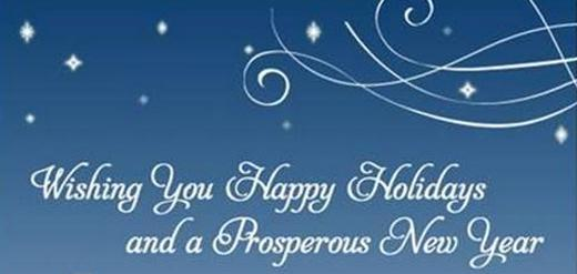 Happy Holidays and Best Wishes for 2013